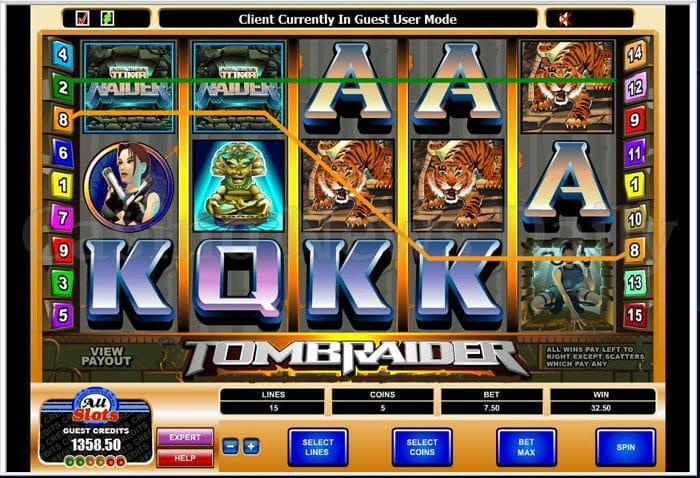 Tomb Raider Slot microgaming