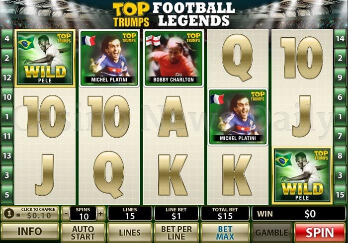 Play Top Trumps Football Legends online slots at Casino.com