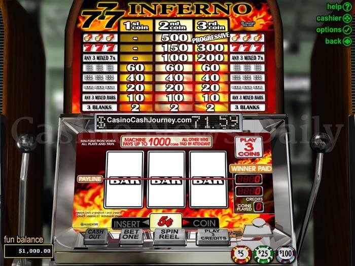 Triple 7 Inferno Online Slot