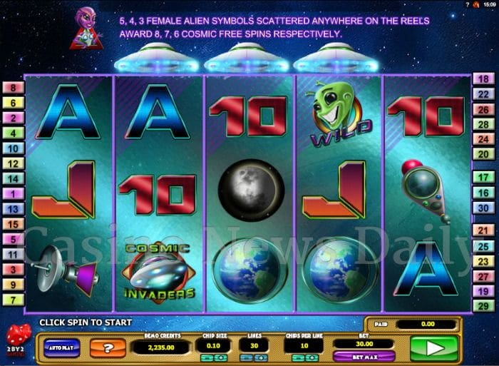 Cosmic Invaders Online Slot