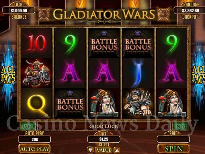 Gladiator Wars Online Slot