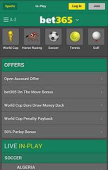 Bet365 On The Move App