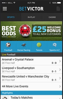 Betvictor mobile betting las vegas golf each way betting rules bet365 online