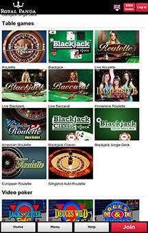 Royal Panda Mobile Casino App