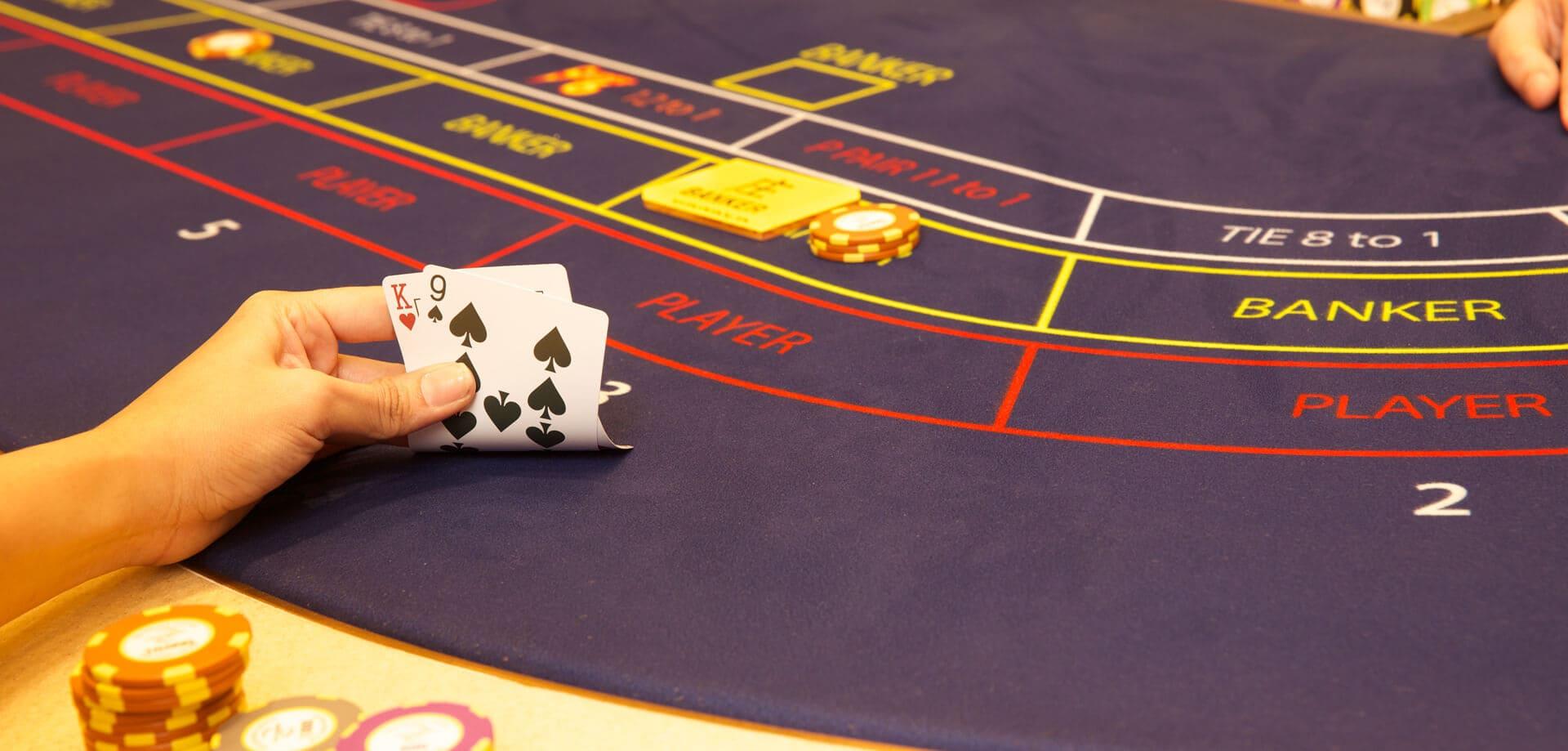 baccarat card handling