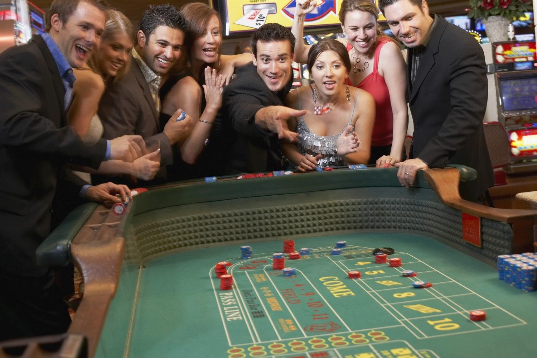 casino craps player around the table