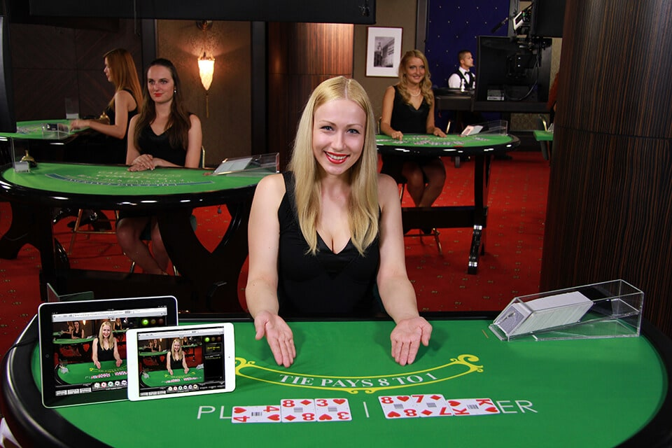 female baccarat live dealer