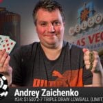 Andrey Zaichenko Wins 2016 WSOP $1,500 Triple Draw Lowball (Limit)