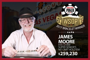 James Moore Defends WSOP $1,000 Super Seniors No-Limit Hold'em Title