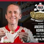 Andres Korn Wins 2017 WSOP $5,000 No-Limit Hold'em