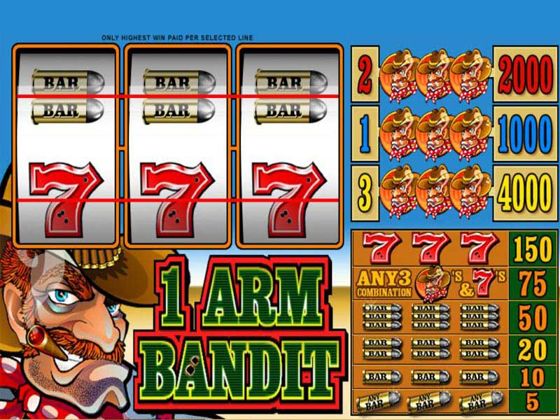 Play The Microgaming No Download Slot: 1 Armed Bandit