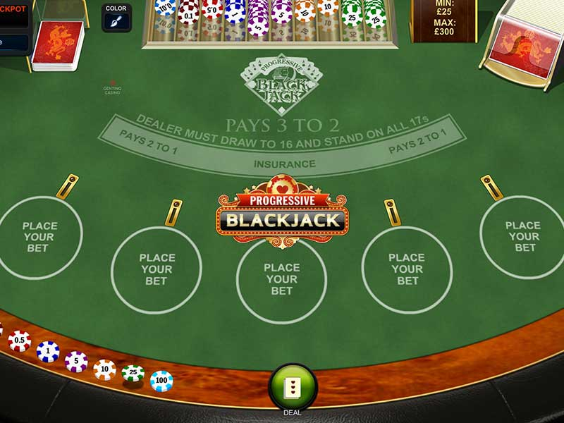 Play Progressive Blackjack by Playtech