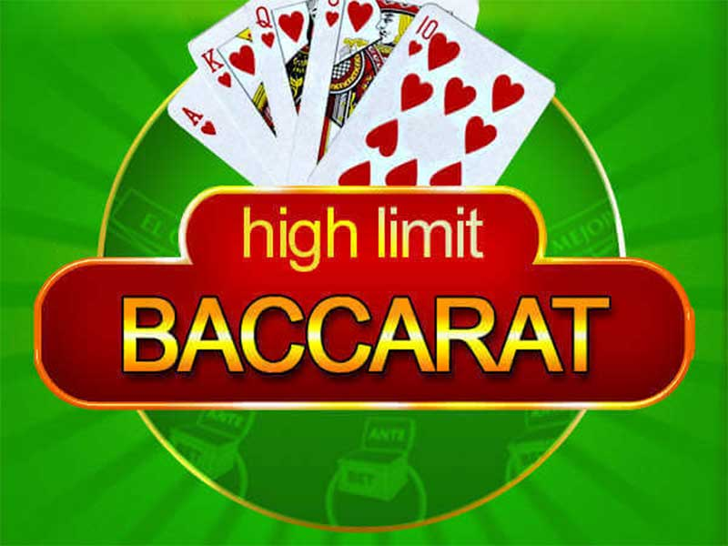 Play High Limit Baccarat by Microgaming