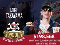 Mike Takayama Wins 2018 WSOP $1,000 No-Limit Hold'em Super Turbo Bounty