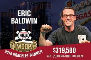 Eric Baldwin Captures Second Gold Bracelet in 2018 WSOP $1,500 No-Limit Hold'em