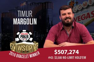 Timur Margolin Tops 1,248-Strong Field to Claim Gold in 2018 WSOP $2,500 No-Limit Hold'em