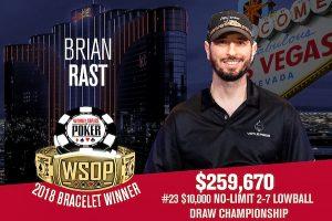 Brian Rast Wins Doyle Brunson's Last Poker Tournament for Fourth WSOP Bracelet