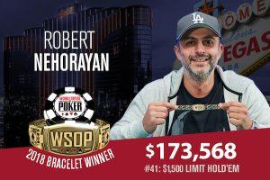 Robert Nehorayan Takes Down 2018 WSOP $1,500 Limit Hold'em