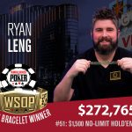 Ryan Leng Emerges Victorious in 2018 WSOP $1,500 No-Limit Hold'em Bounty
