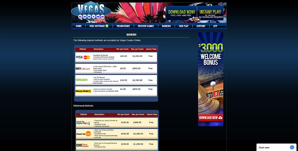 Vegas Casino Online » Visit Us For An EXCLUSIVE Bonus Code
