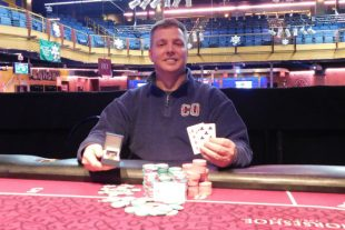 Eric Perry Wins First Gold Ring from Horseshoe Tunica's Opening Event