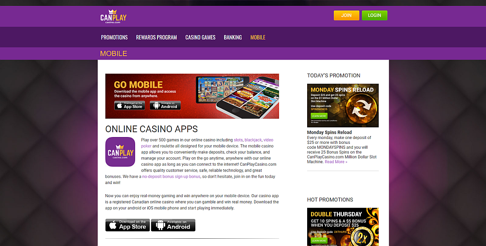 Canplay Casino Review
