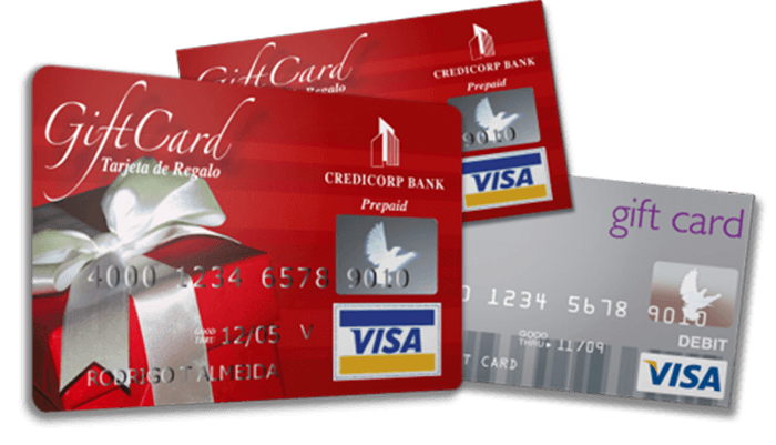 Collage of prepaid visa gift cards