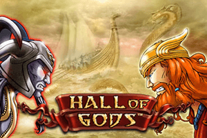 Hall of Gods Progressive Jackpot Slot Logo