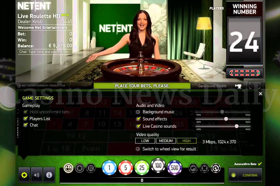 Screenshot of NetNet Live Casino Roulette