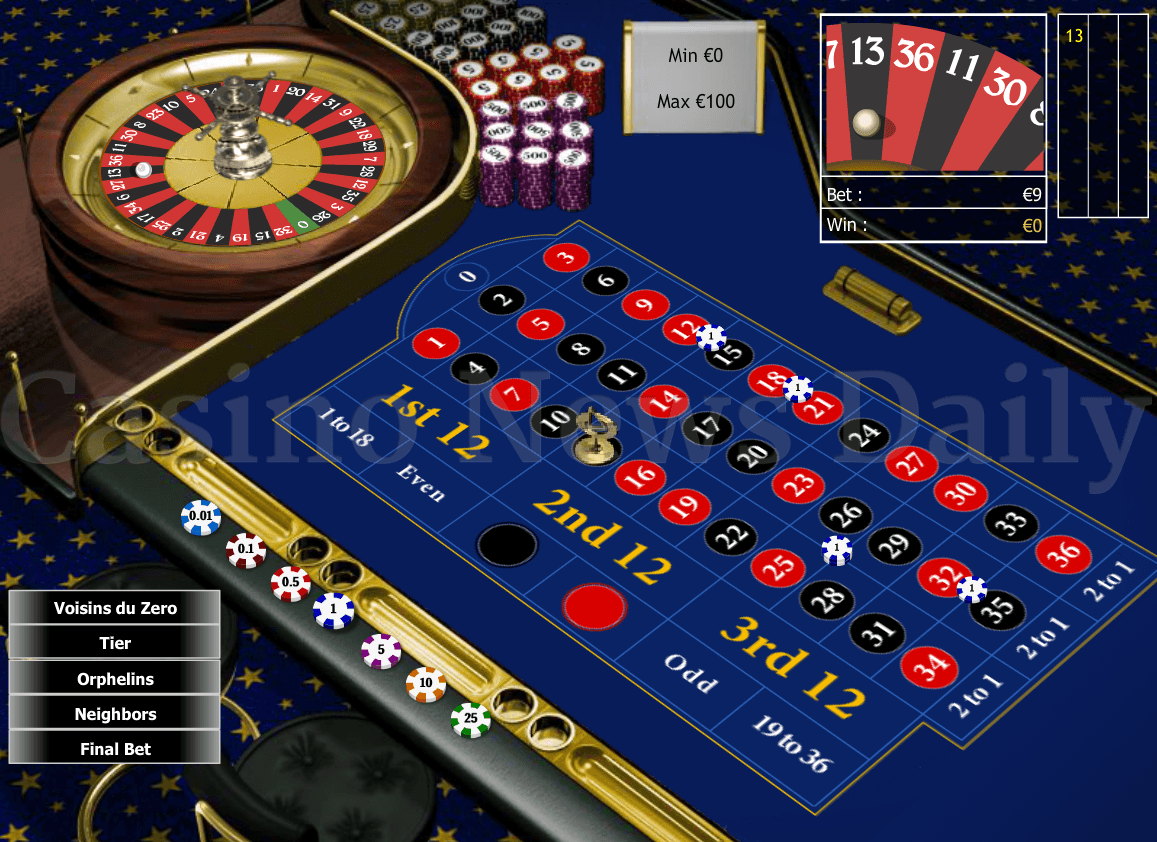 Roulette Game Software Developed by Playtech