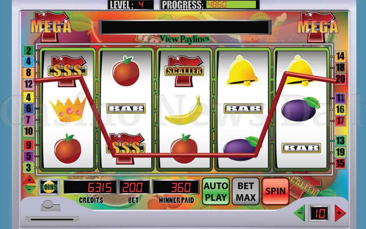 Screenshot of Mega 7 Slot game