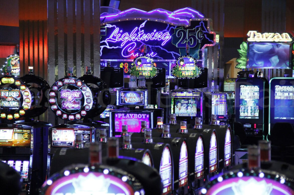 Screenshot of video slots in casino