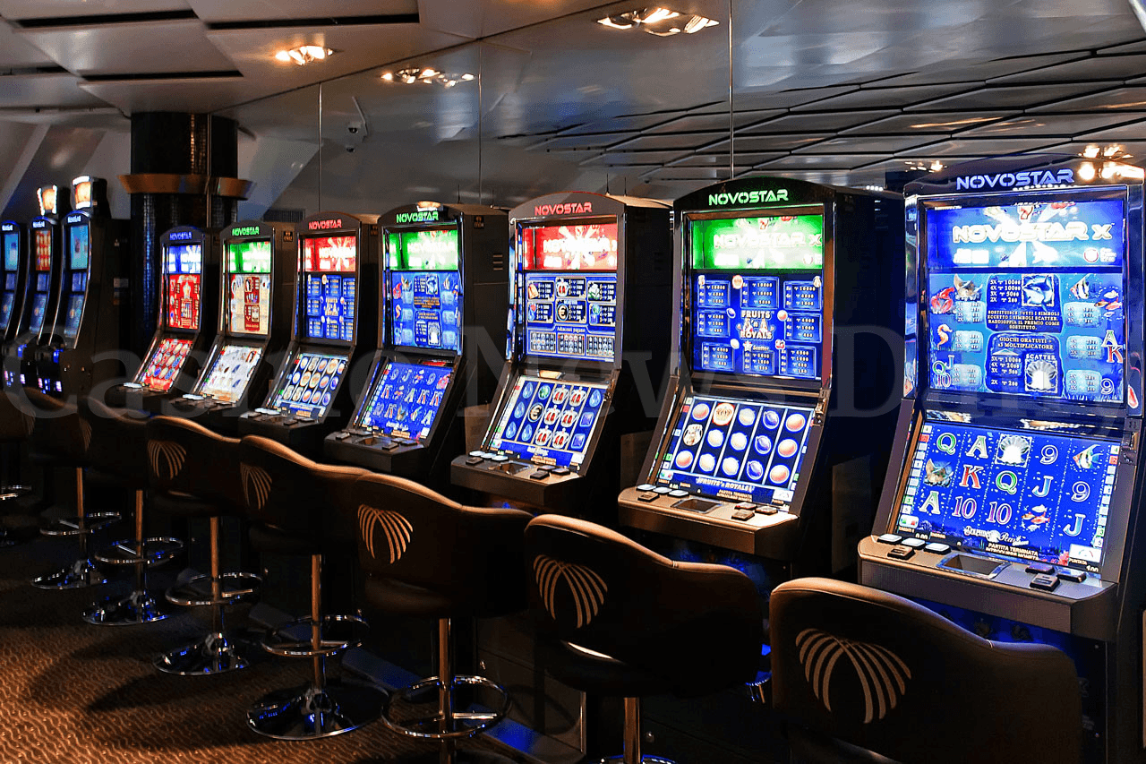 Photo of slot machines in casino
