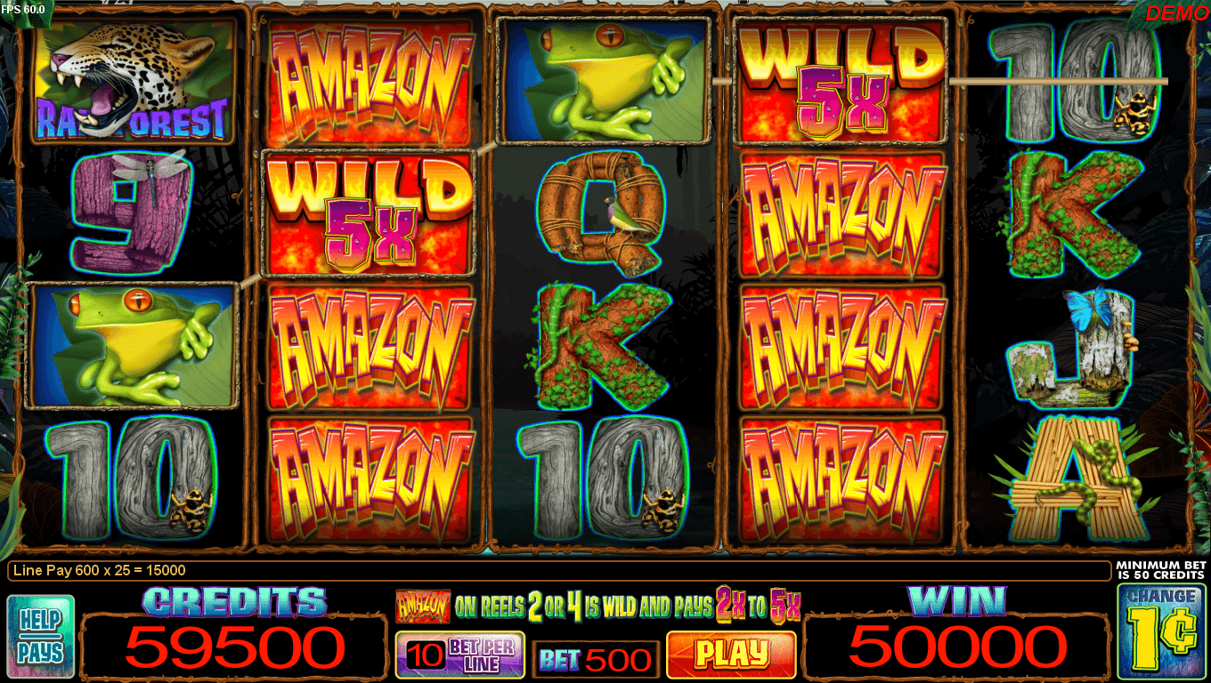Screenshot of a wild play slot