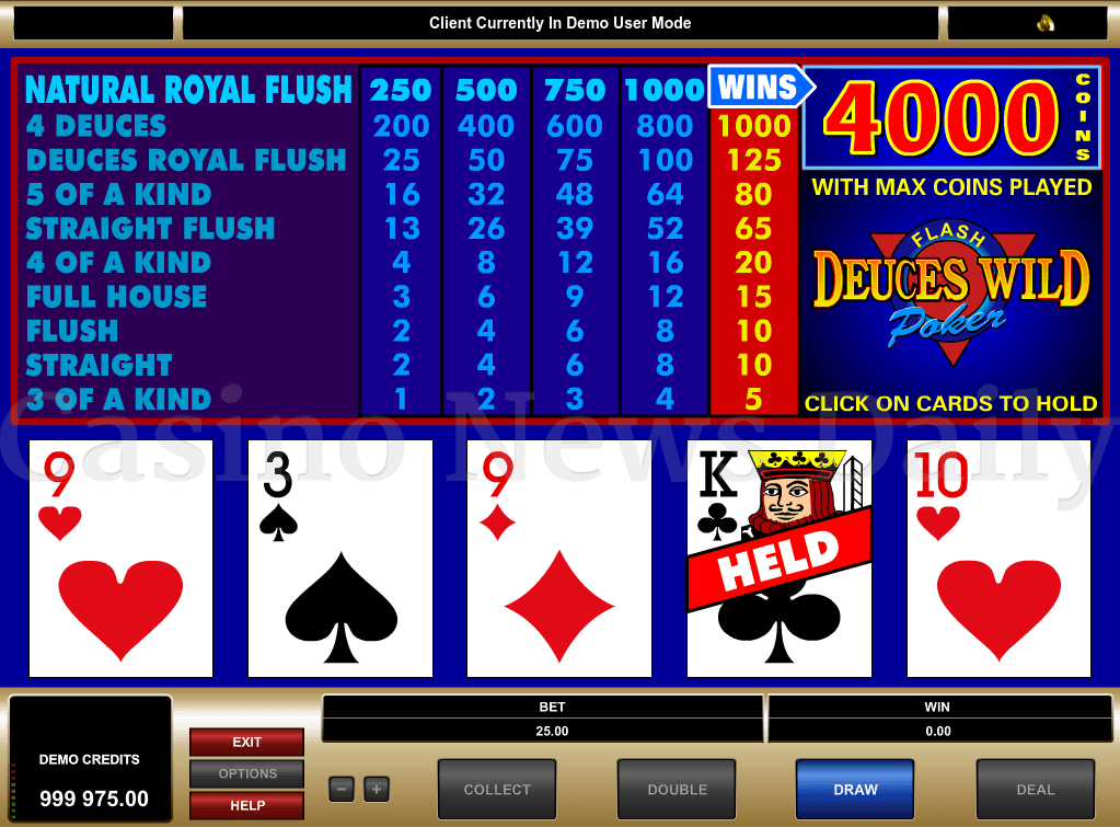 Play Pick 'Em Video Poker Online at Casino.com India