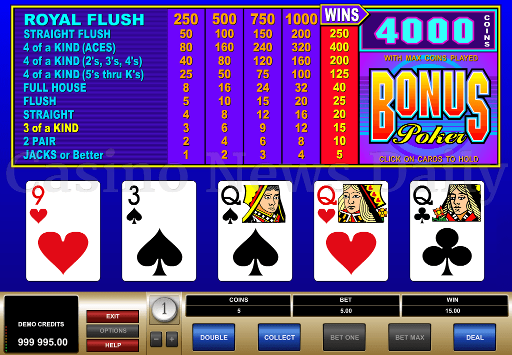 casino games types
