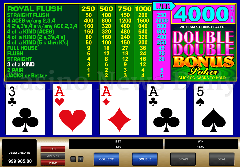 Double Double Bonus Video Poker Game - Rizk Casino