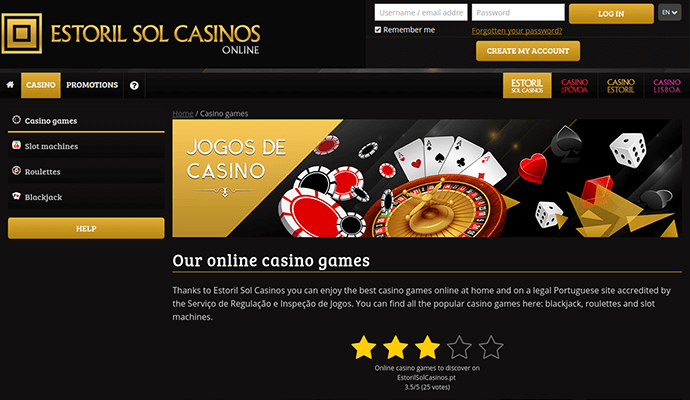 Casino estoril online app