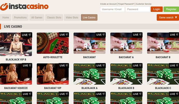 InstaCasino Online Review With Promotions & Bonuses