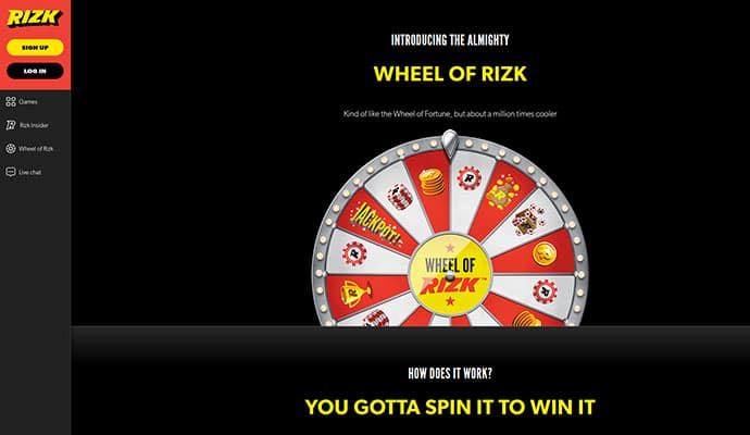 UK Online Casino Payment Options - Rizk Casino Games