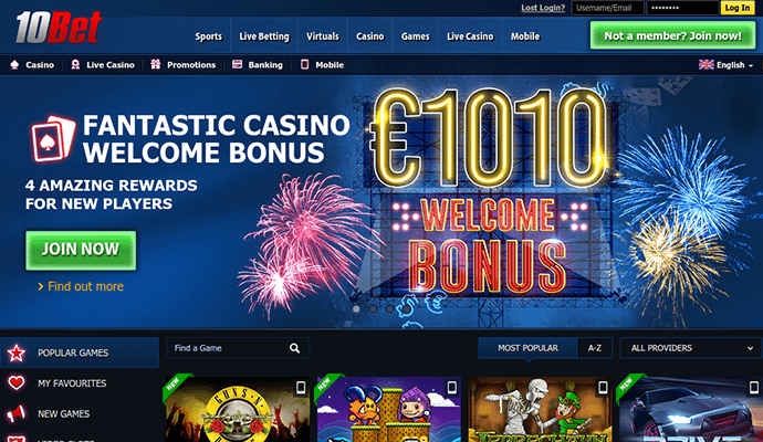 10Bet Casino Review - 10Bet™ Slots & Bonus | 10bet.com