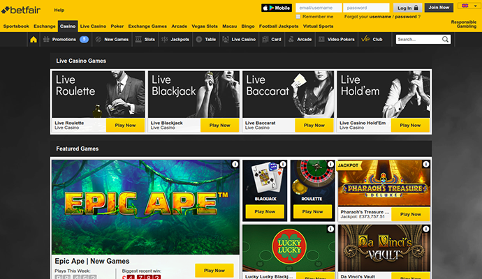 best betfair casino game