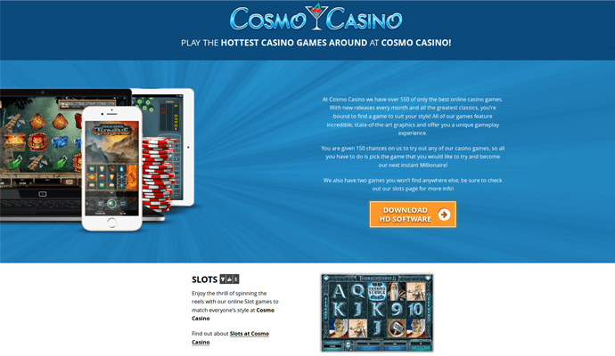 Cosmo Casino Review - Games, Bonuses, Payment Methods
