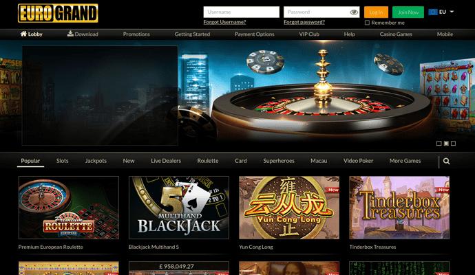 Eurogrand онлайн казино игровые автоматы тропикана
