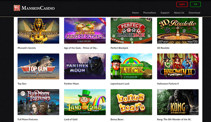 mansion online casino online casi