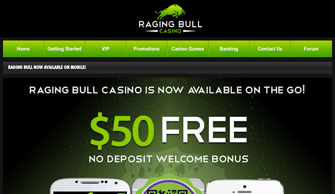 Raging Bull Casino Login Mobile